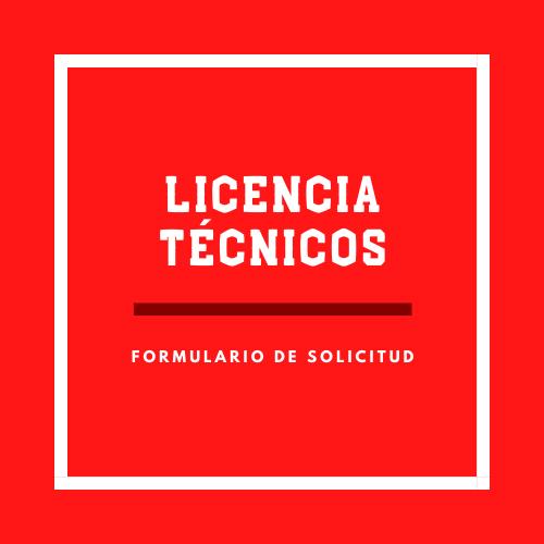 Licencia Técnicos