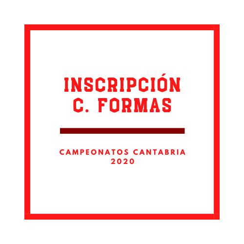 Inscripción Campeonato Formas-2