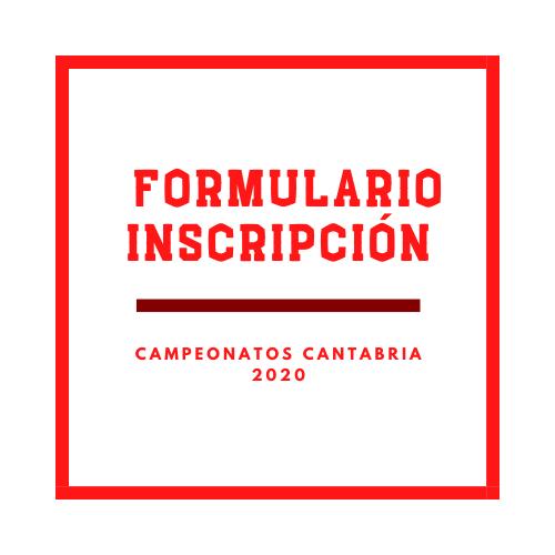 Inscripción Campeonatos Cantabria-2